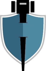 Patrick Jennetten Law Office logo of a shield and gavel